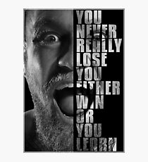 Conor McGregor - Win or Learn Photographic Print