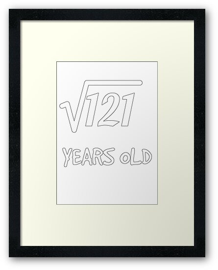 Square Root Of 121 11th Birthday 11 Years Old Boy Girl