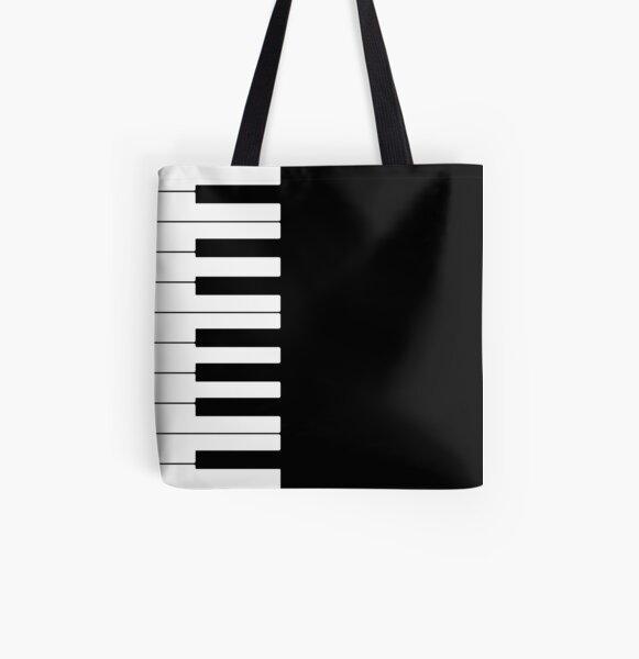 Piano All Over Print Tote Bag