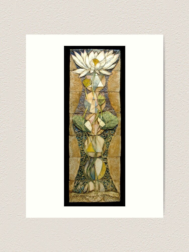 Alternate view of Lotus I: sacred geometry Art Print