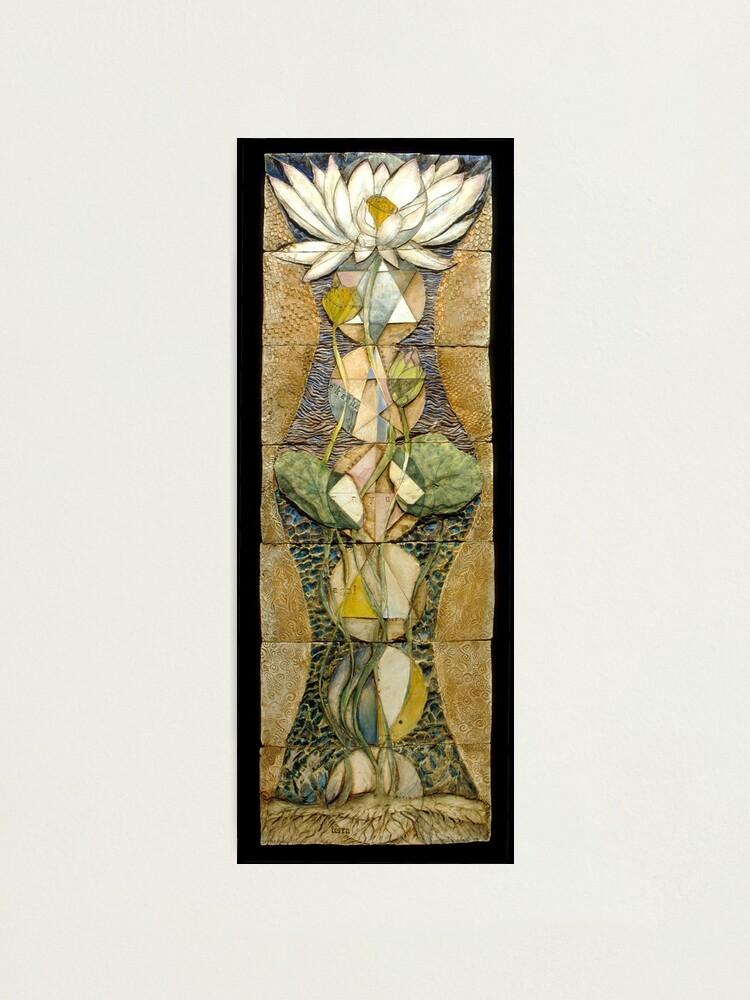 Alternate view of Lotus I: sacred geometry Photographic Print