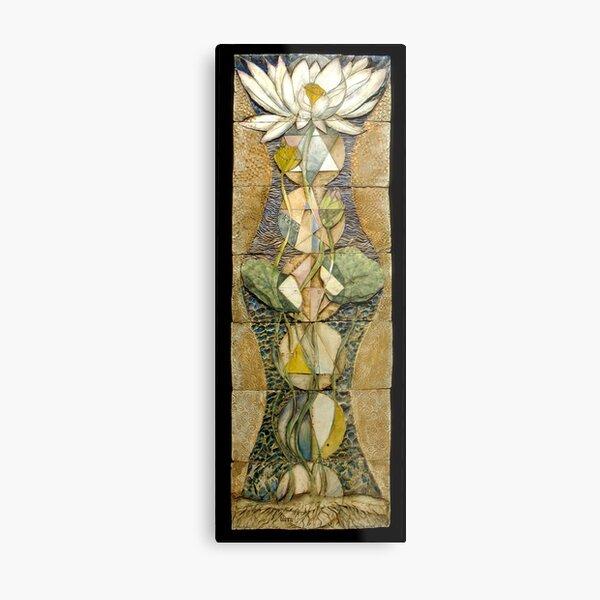 Lotus I: sacred geometry Metal Print