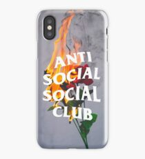 Anti Social Social Club Rose iPhone Case/Skin