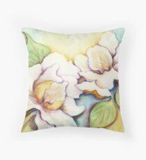A Pair of Creamy White Southern Magnolias Throw Pillow