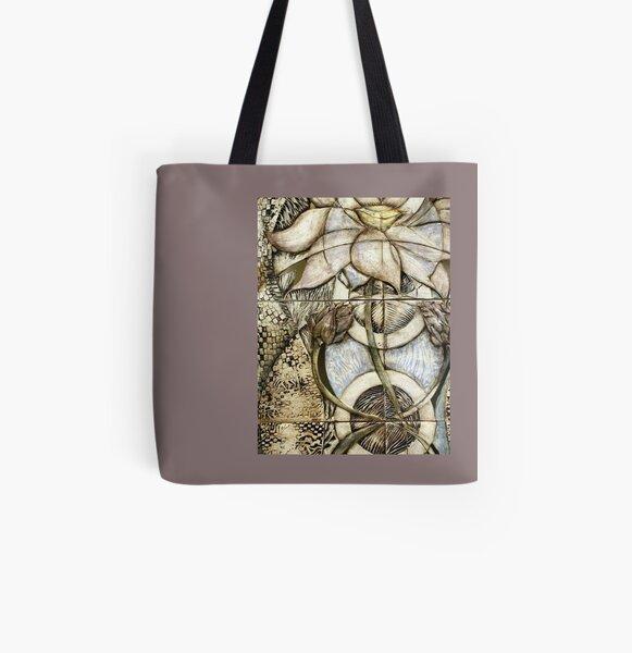 Lotus V: subtle energy (detail) All Over Print Tote Bag