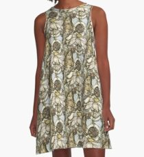 Lotus V: subtle energy (detail) A-Line Dress