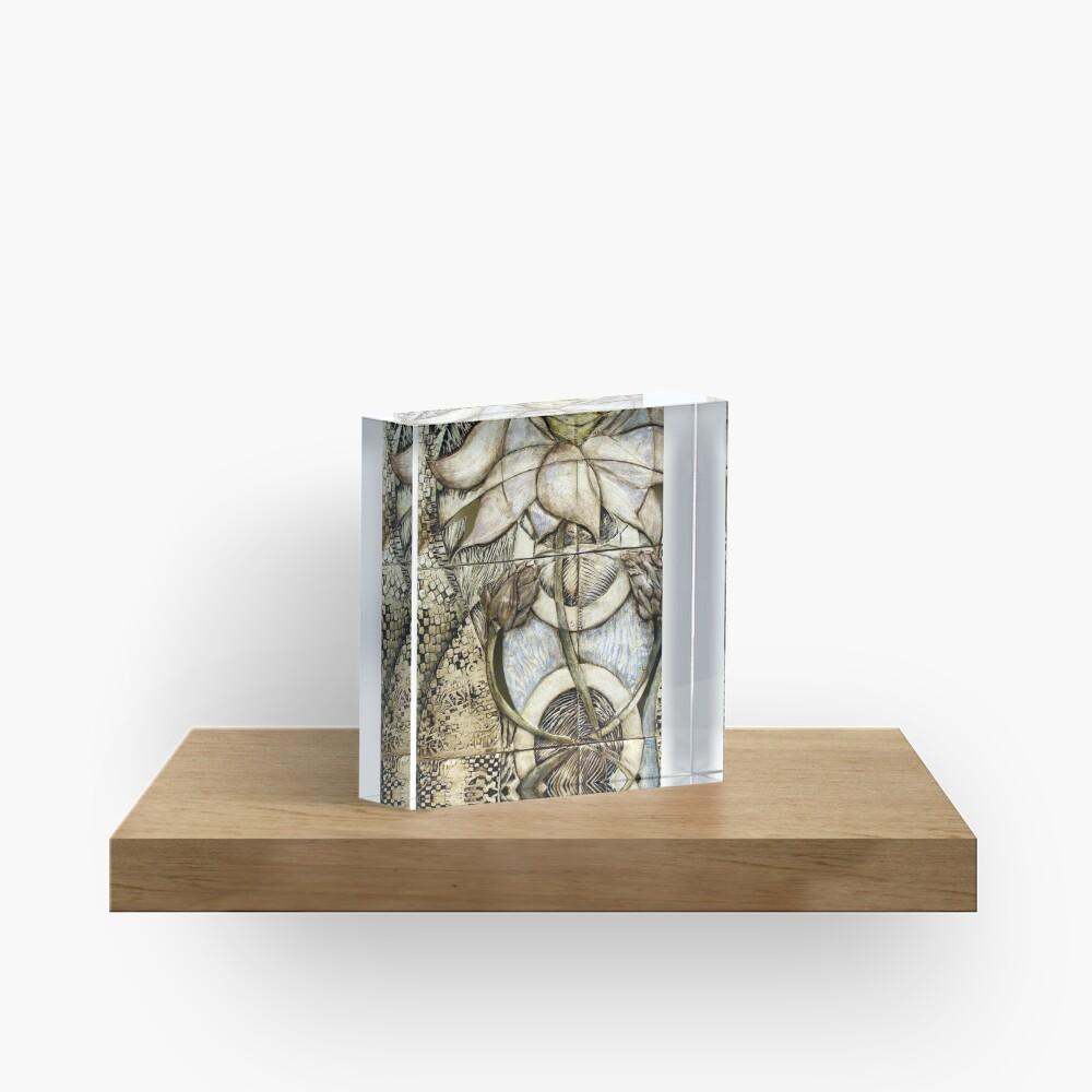 Lotus V: subtle energy (detail) Acrylic Block