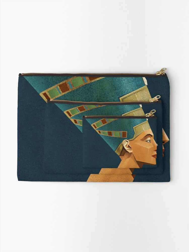 Alternate view of Nefertiti, Tomek Biniek Zipper Pouch