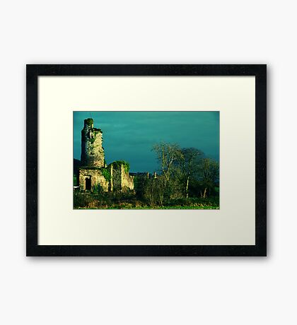 Rural Tower In Acidic Light  Framed Print