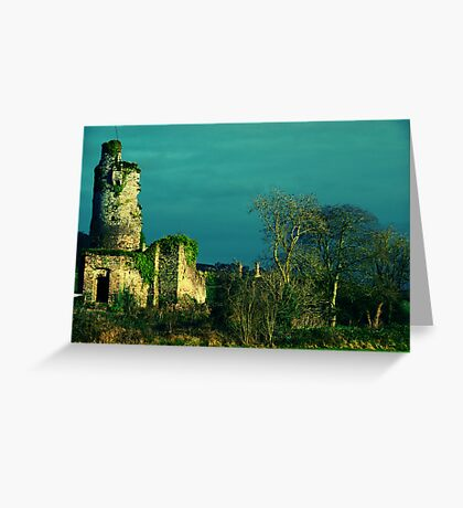 Rural Tower In Acidic Light  Greeting Card