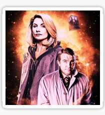 The 13th doctor and assistant.  Sticker