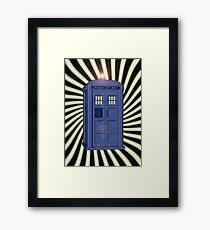 TARDIS CLASSIC VORTEX 1 Framed Print