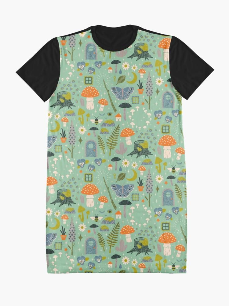 Alternative Ansicht von Märchengarten T-Shirt Kleid