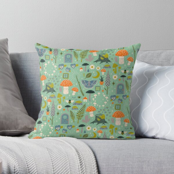 Fairy Garden Throw Pillow