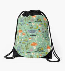 Fairy Garden Drawstring Bag