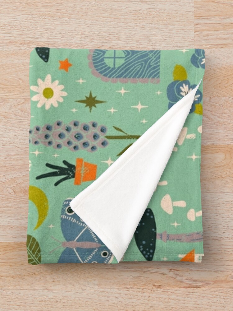 Alternate view of Fairy Garden Throw Blanket