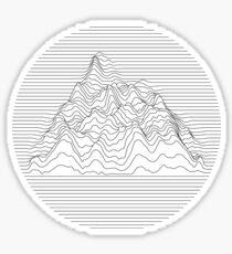 Mountain lines Sticker