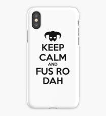 Keep calm and fus ro dah II iPhone Case/Skin