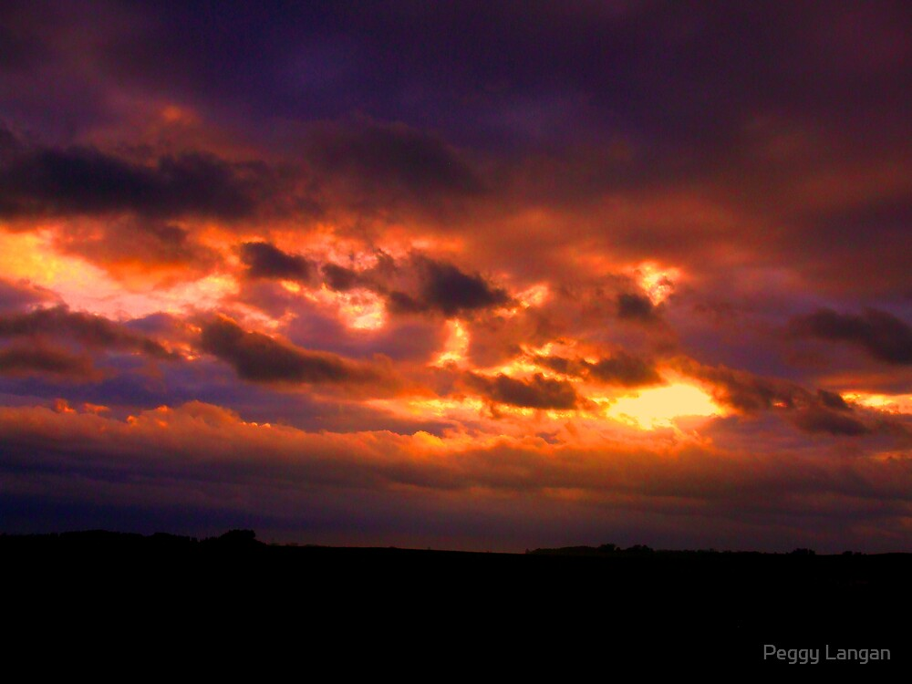 Fire at Sunrise by Peggy Langan