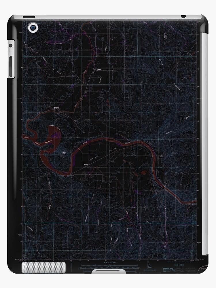 USGS TOPO Map Idaho ID Montour 237210 1985 24000 Inverted by wetdryvac