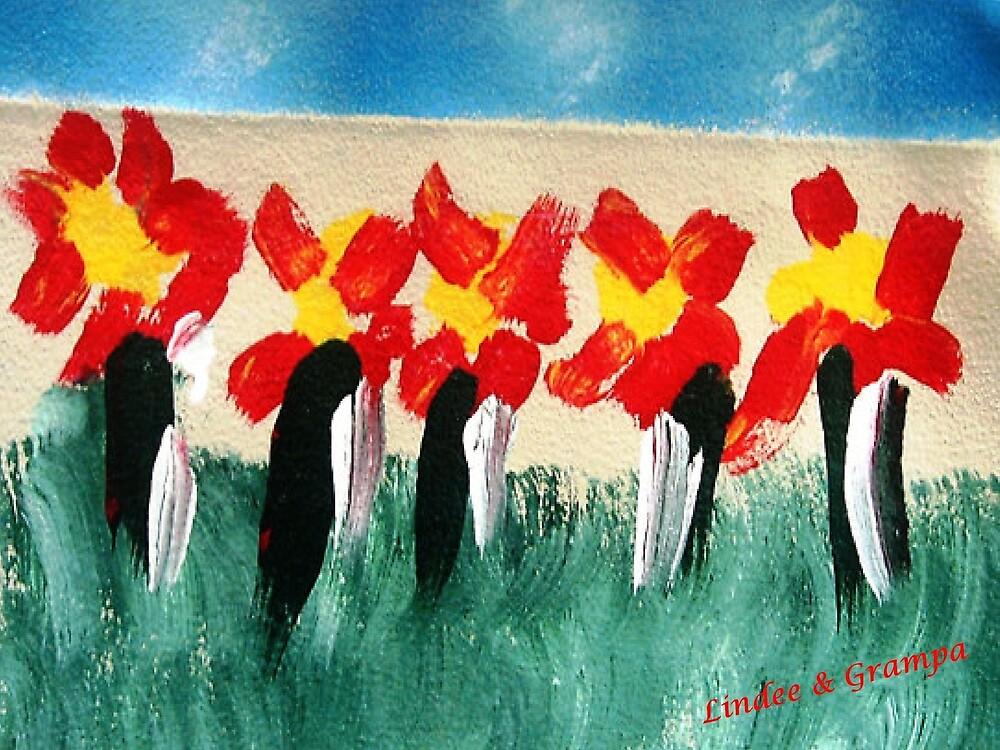 Penguins & Flowers by WhiteDove Studio kj gordon