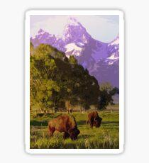 Wyoming Countryside Sticker