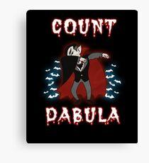 Halloween Count Dabula Canvas Print