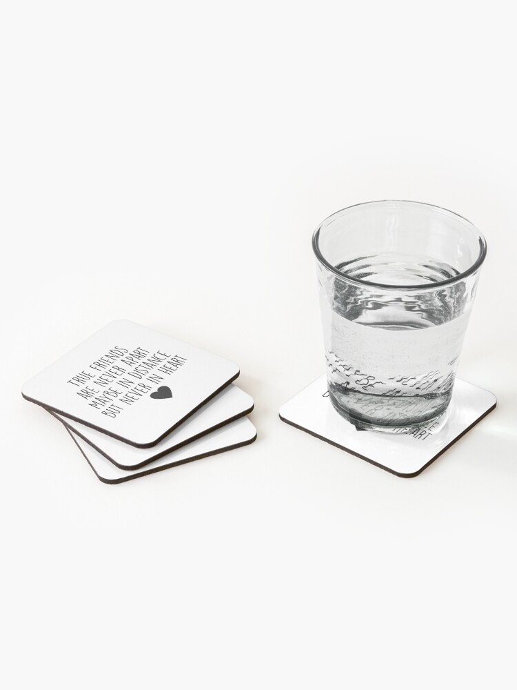 Alternate view of True friends are never apart Coasters (Set of 4)