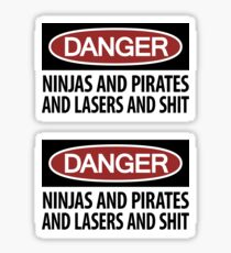 Ninjas and Pirates and Lasers, Oh My! ×2 Sticker