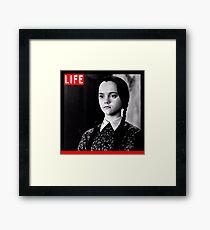 Life Wednesday Addams  Framed Print