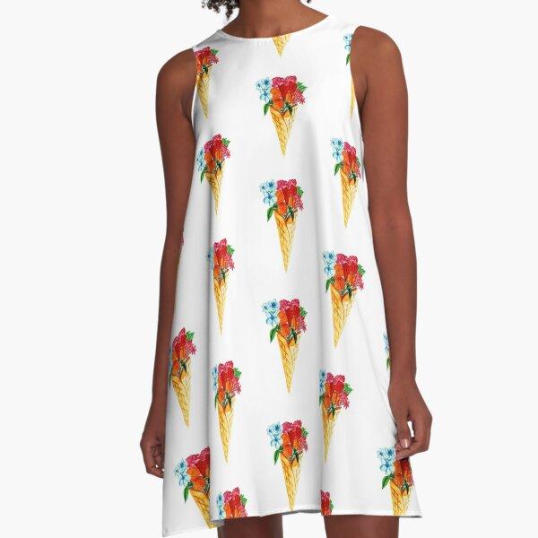 Flower Cone  A-Line Dress