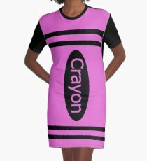 Crayon pink costume Graphic T-Shirt Dress