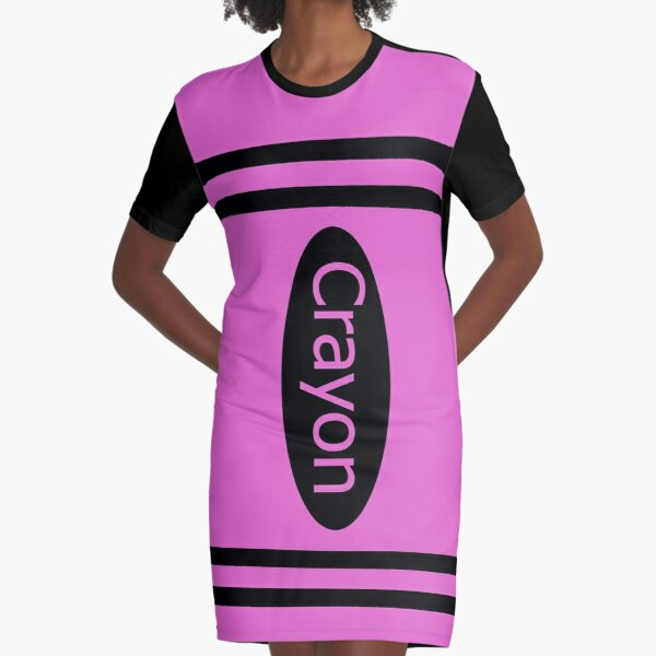 Crayon pink costume Graphic T-Shirt Dress