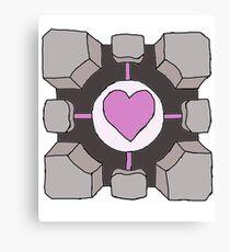 Companion Cube Portal Canvas Print