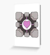 Companion Cube Portal Greeting Card