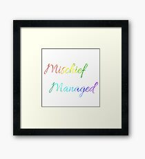 Mischief Managed Watercolour Framed Print