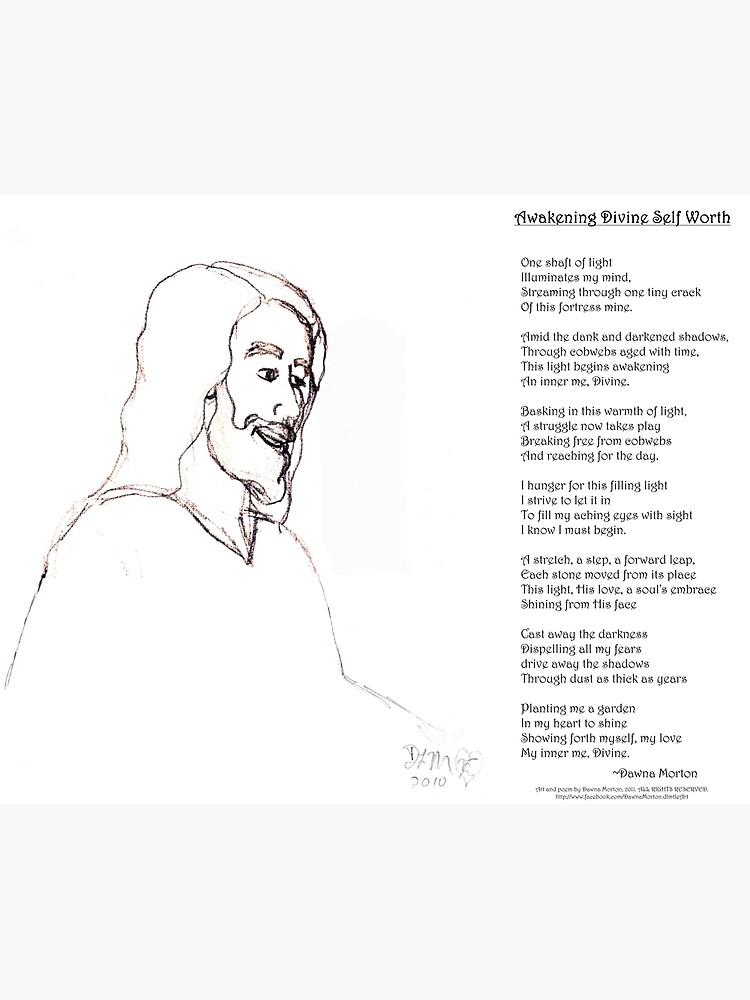 Awakening Divine Self Worth, sketch of Jesus 2 by DlmtleArt