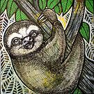 Happy Sloth by Lynnette Shelley