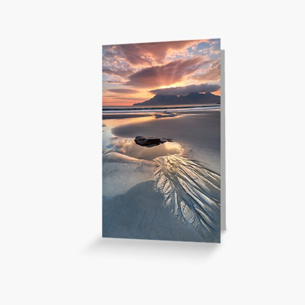 Singing Sands Rock Pool  Sunset Isle of Eigg. Small Isles. Scotland. Greeting Card