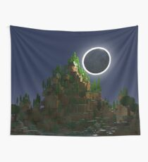 Shadow of the Moon Voxel Art Wall Tapestry