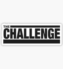 MTV Challenge Logo (Black) Sticker