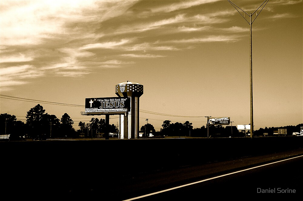 Jesus billboard in South Carolina by Daniel Sorine