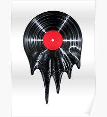 Melting vinyl Poster