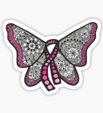 Breast cancer butterfly  Sticker