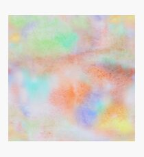 Abstract painted colorful watercolor background Photographic Print