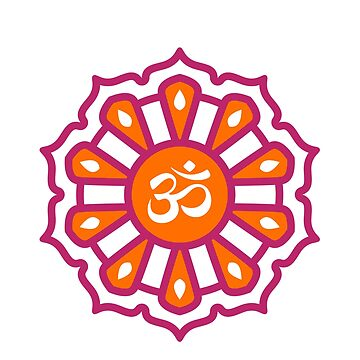 Om Spiritual Symbol in Simple Mandala by lol-tshirts