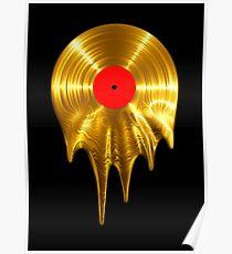 Melting vinyl GOLD Poster