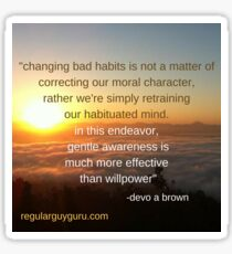 awareness creates change  Sticker