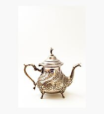 Moroccan Silver Teapot Photographic Print