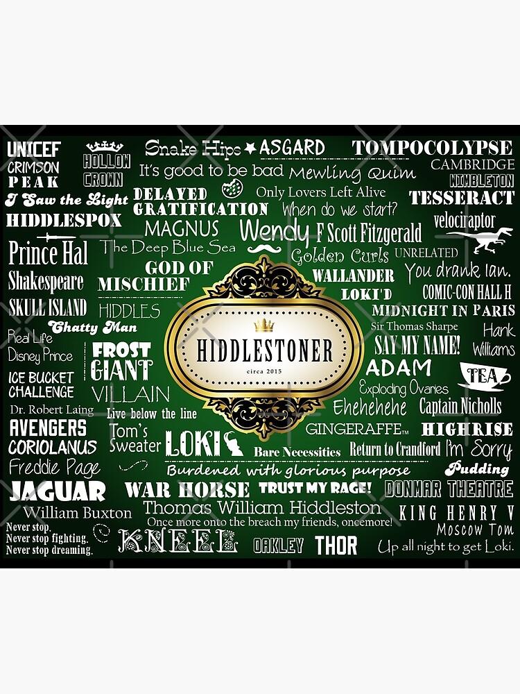 Hiddlestoner Reisebecher - Tom Hiddleston (grün) von patee333